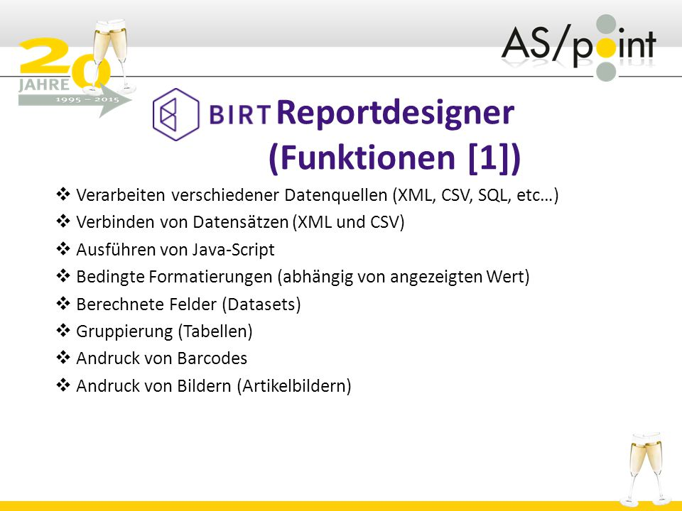 Reportdesigner (Funktionen [1])
